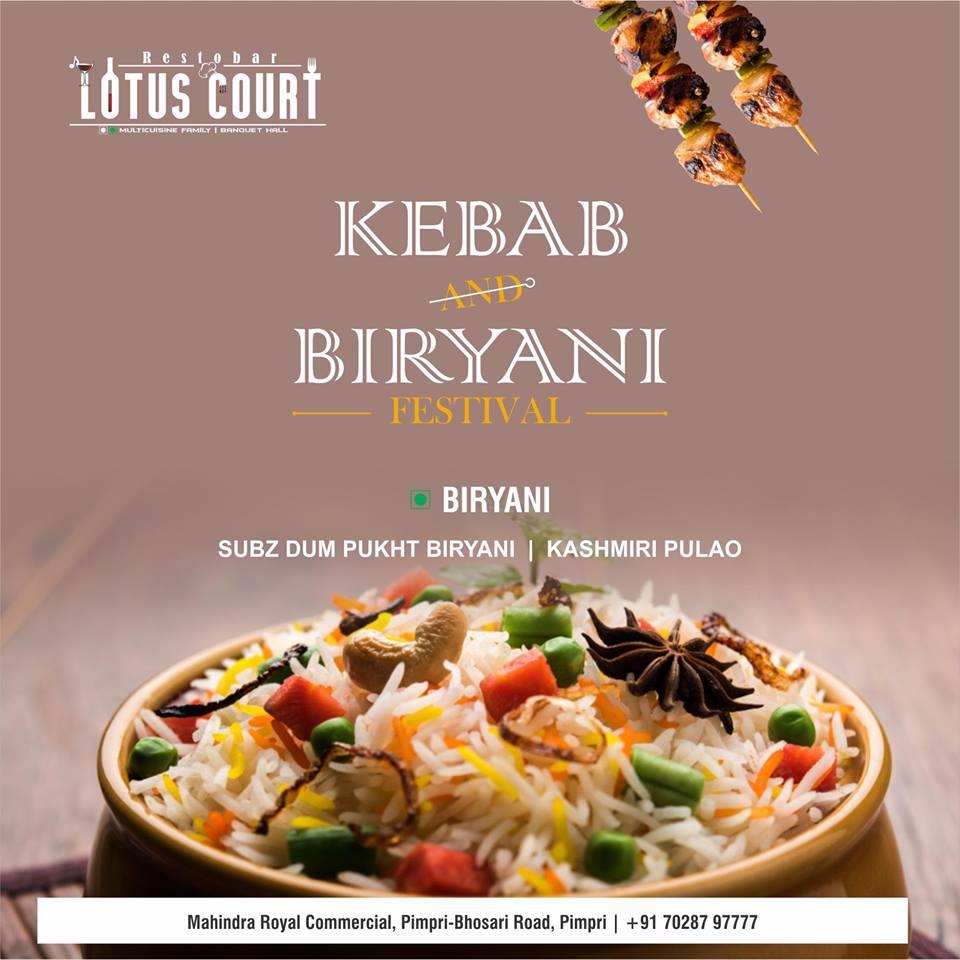 Kebab Biryani Festival